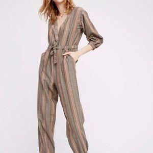 FREE PEOPLE Woman's Loveland Stripe Jumpsuit 💖
